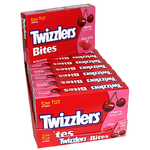 Twizzlers Bites Cherry Licorice Candy Theater Box 12CT