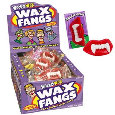 Wack-O-Wax Wax Fangs Retro Candy