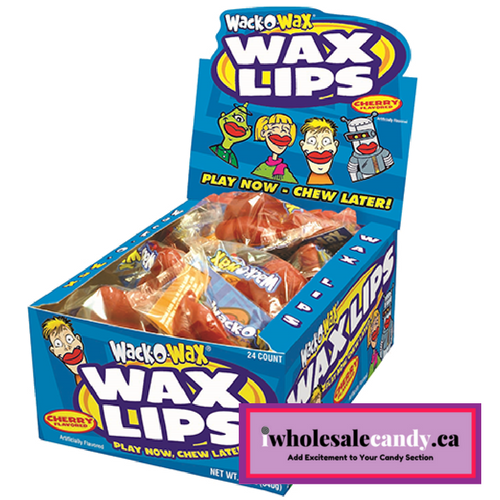 Wack-O-Wax Wax Lips-24 CT