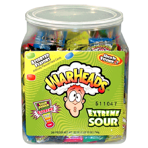 WarHeads Extreme Sour Hard Candy-Bulk Candy Tub
