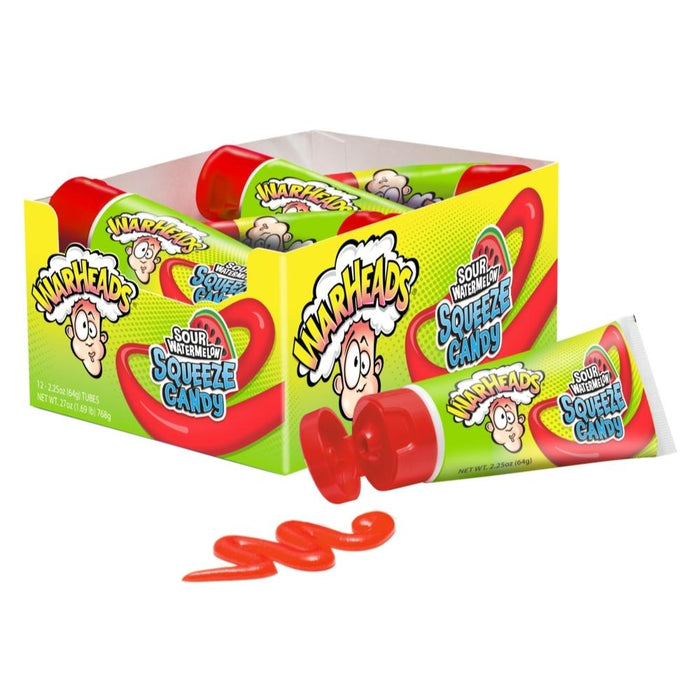 Warheads Squeeze Candy Sour Watermelon 2.25oz - 12CT