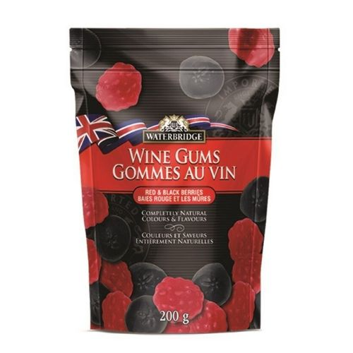 Waterbridge Red & Black Berries Wine Gums British Candy-15 CT