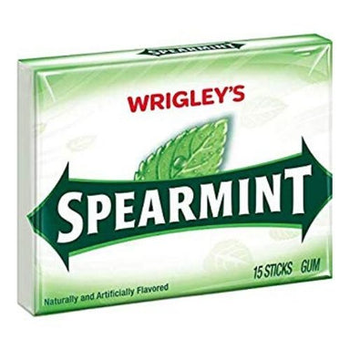 Wrigley's Spearmint Gum 15 Stick Packs