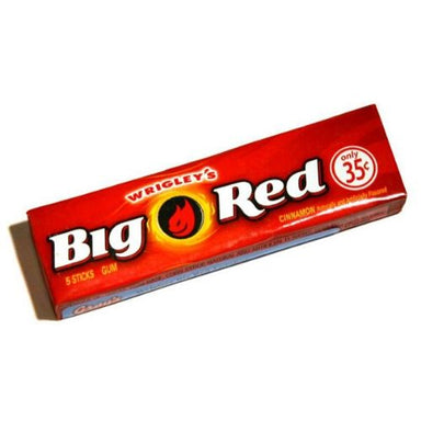 Wrigley's Big Red Stick Gum 5 Stick Packs
