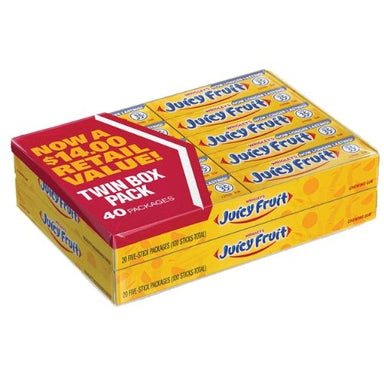 Wrigley's Juicy Fruit Gum 5 Stick Packs-40 CT