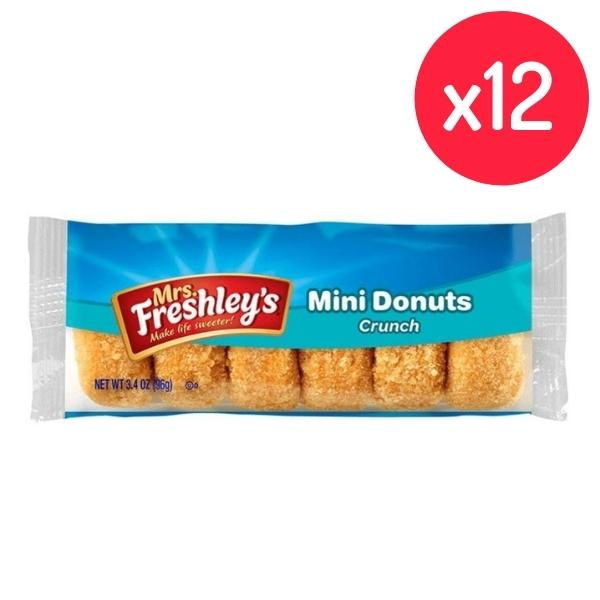 Mrs Freshley's Crunch Mini Donuts 3oz - 12 Pack