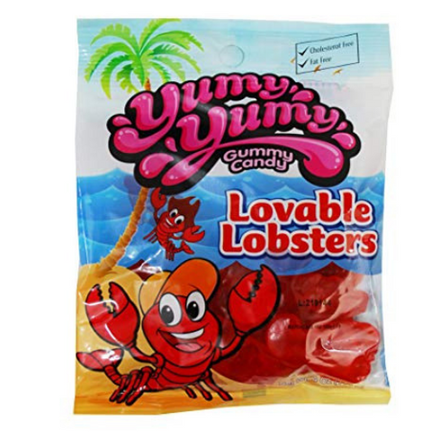 Yumy Yumy Lovable Lobsters Gummy Candy-12 CT