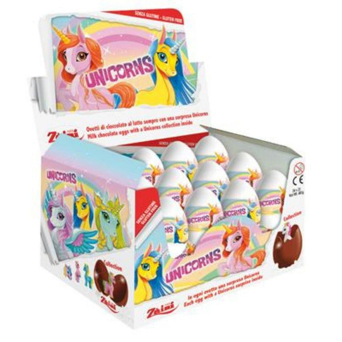 Zaini Unicorn Chocolate Surprise Eggs 20g - 24CT