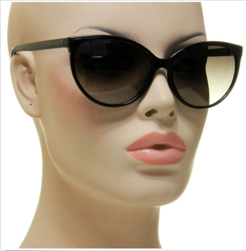 Classic Designer Black Cat Eye Sunglasses - Residual Blessings - 1