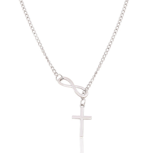 Women Infinity Cross Necklace