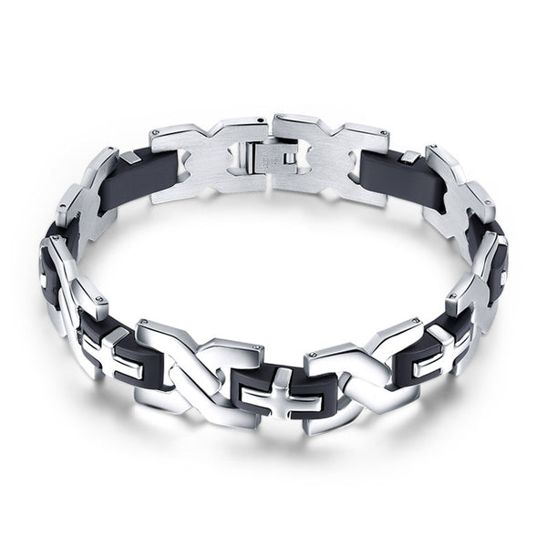 Men's Stainless Steel Lords Prayer Bracelet