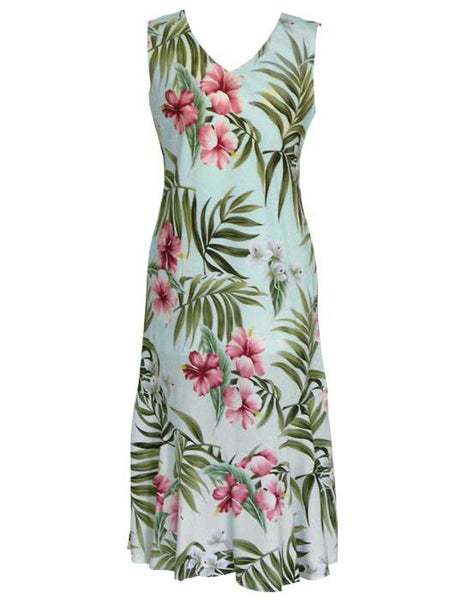 Maxi Tea Length Sleeveless Rayon Dress - Nalani