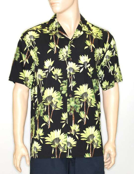 Tropical Shirt - Fan Palm Pattern