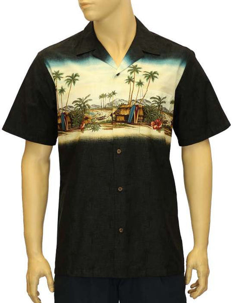 Black Border Hawaiian Shirt - Surfing Hut