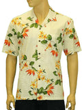 Tropical White Hibiscus Island Paradise Shirt