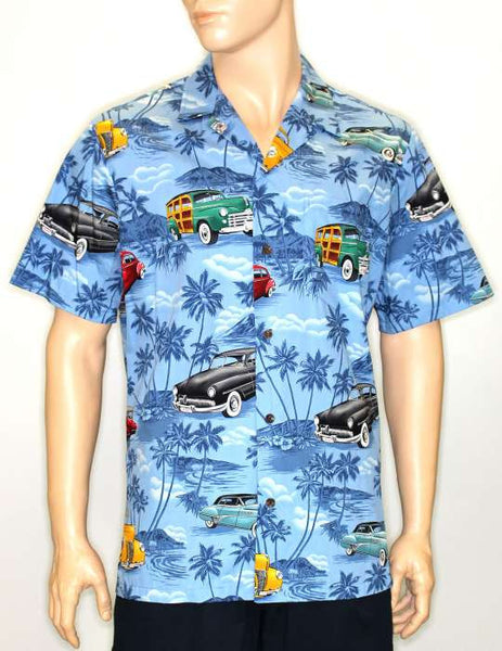 Tropical Blue Shirt - Classic Cars
