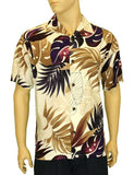 Rayon Aloha  Hawaiian Resort Shirt - Monstera Design