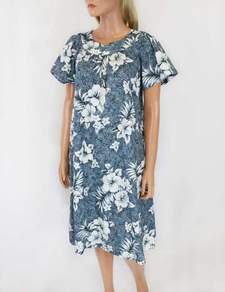 Short Tropical Dress - Hibiscus Muumuus