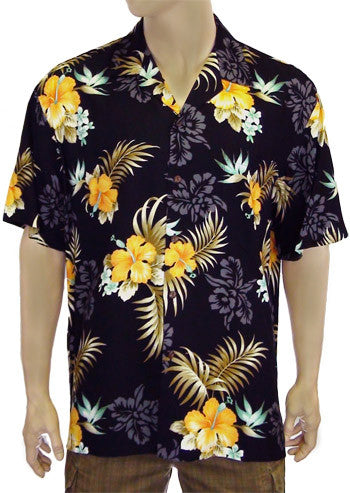 Rayon Hawaiian Shirt - Birds of Paradise