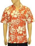 Men's Cotton Hawaii Shirt - Print Floral Aina