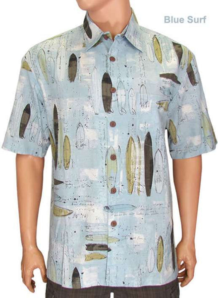 Blue Surf Shaping Room Kahala Island Shirt