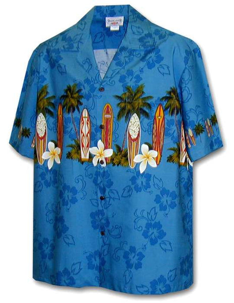 Classic Surfing Boards Men Aloha Shirt