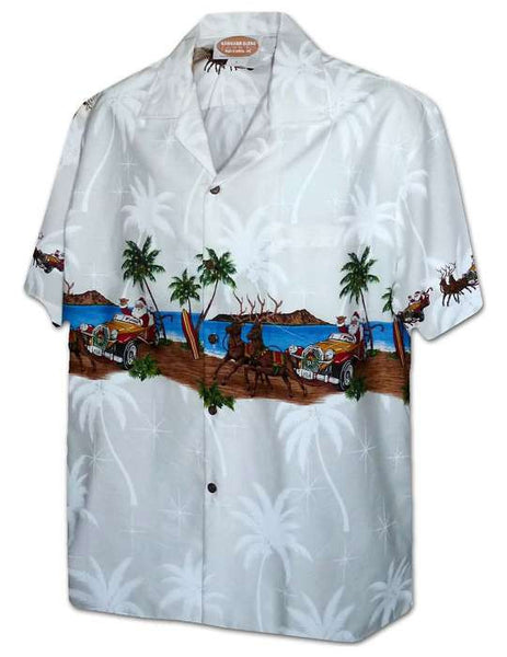 Hawaiian Aloha Shirt - Santa Cool Ride