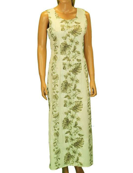 Long Maxi Tank Cotton Hawaiian Dress - Haku Laape