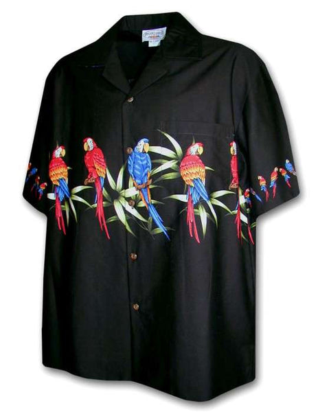 Hawaiian Men Shirt - Parrots Team Paloka