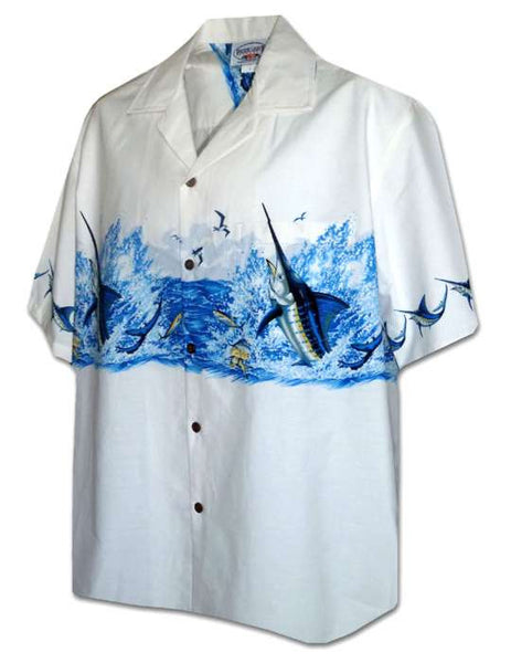 Marlin Adventure Chest Band Aloha Shirt