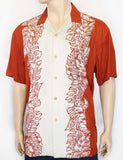 Island Monstera Panel Aloha Rust Shirt