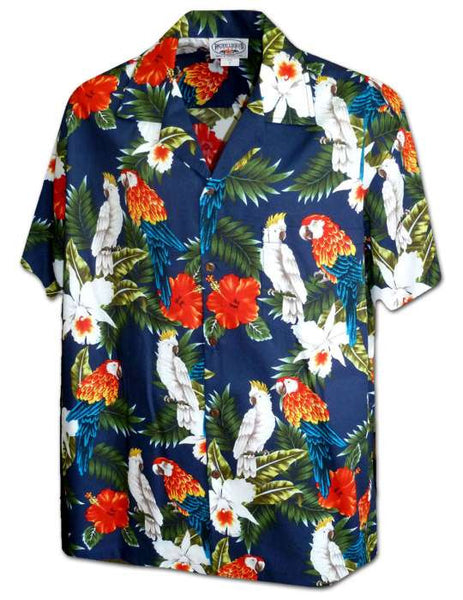 Talking Parrots - Aloha Shirt