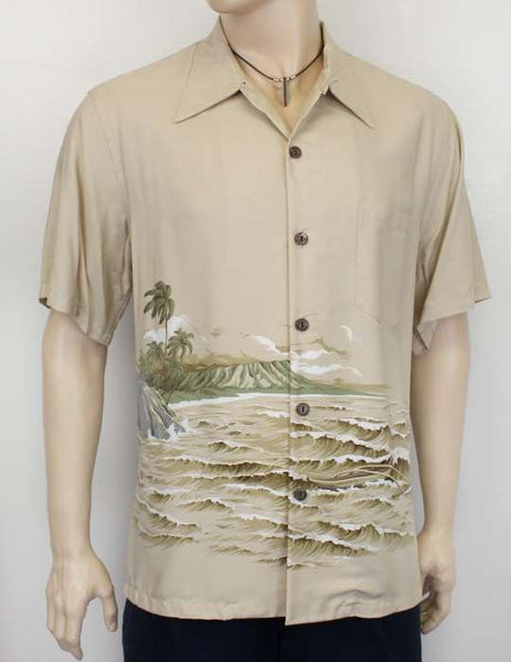 Rayon Diamond Hawaiian Shirt - Kaimana Surf