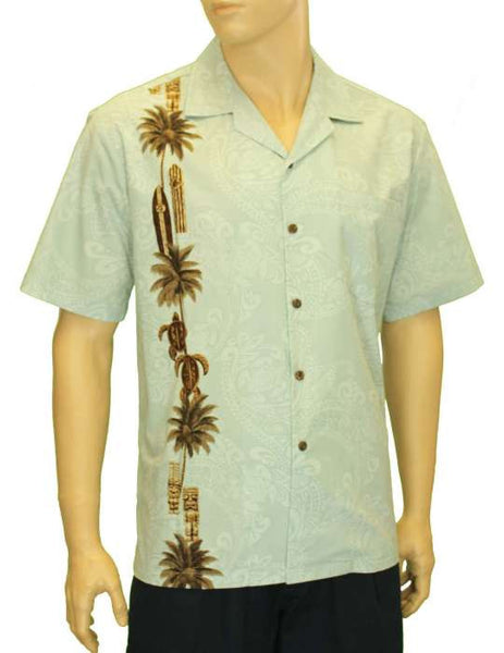 Hawaiian Shirt - Totem Surfer South Pacific Design