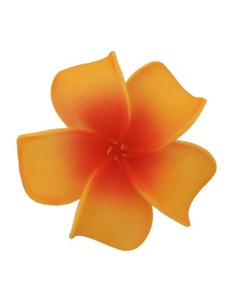 Large Hawaiian Plumeria Flower Hair Clip Orange