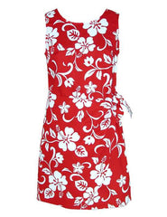 Women Short Sarong Dress - Hibiscus Kaneoke