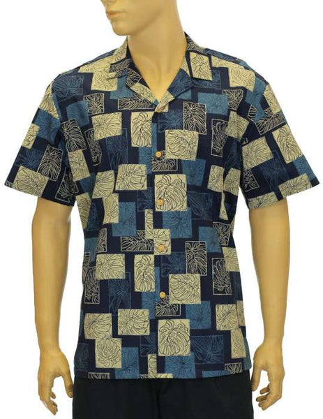 Hawaii Shirt - Aloha Monstera Navy