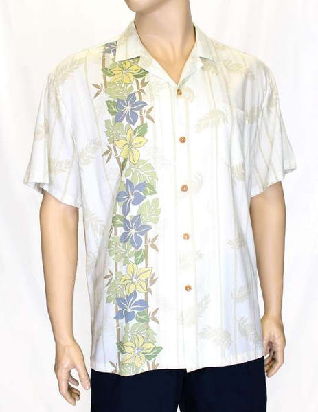 Side Panel Shirt - Plumeria Flower