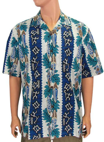 Aloha Men's Cotton Hawaiian Shirt - Pa'pa Heena'lu