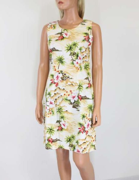Short Tank Style Dress - Surfing Hibiscus
