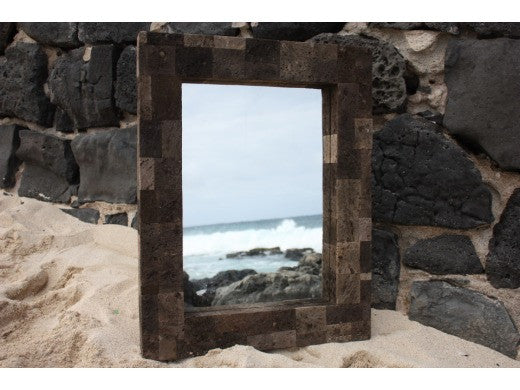 "Lava Rock Rectangular Mirror 24"" x 30"" - Coastal Living"