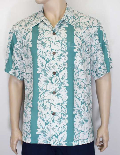 Rayon Shirt - Classic Hibiscus