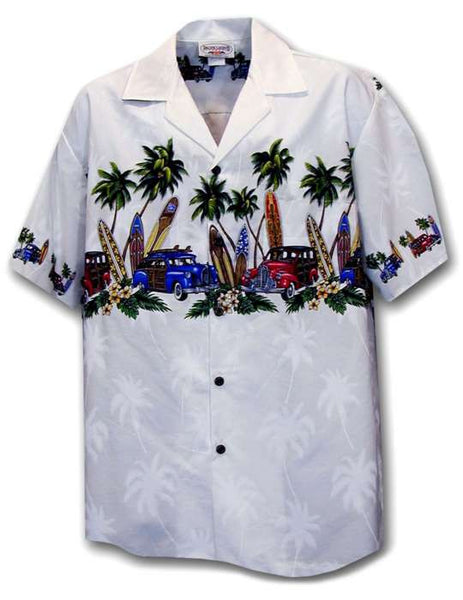 Surfing Woody Car Aloha Shirt