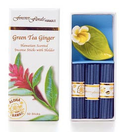 Scented Green Tea Ginger Petite Incense Gift Box