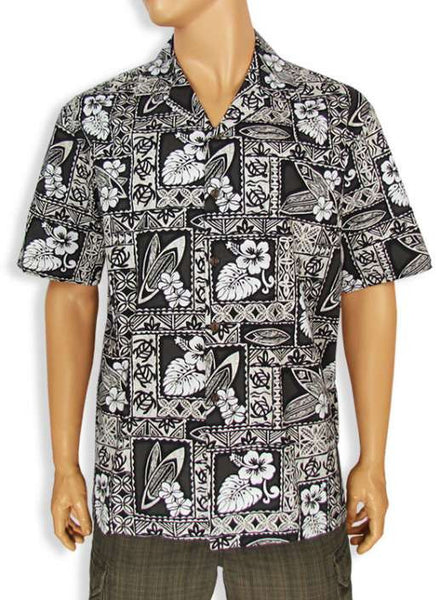Cotton Shirt for Men - Island Tapa Print