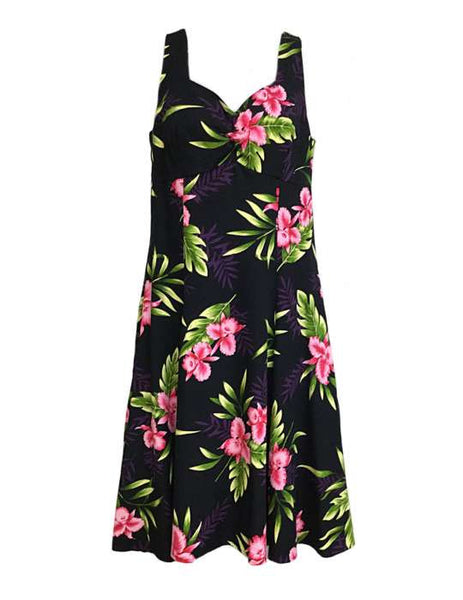 Rayon Hawaiian Sundress - Orchids Okalani