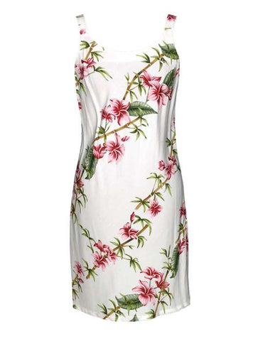 Aloha Short Dress - Slimming Bamboo Hibiscus