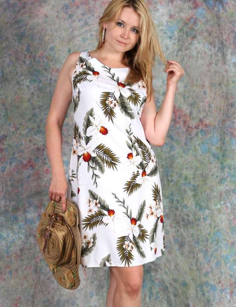 Knee Length Tank Straps Hawaiian Dress - Hanapepe