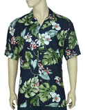 Rayon Aloha Shirt - Orchids Monstera