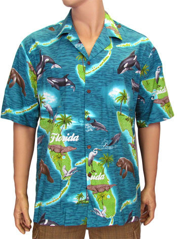 Cotton Aloha Shirt - Sunshine State Design